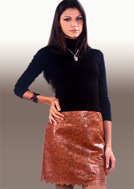 Leather Skirt L04104