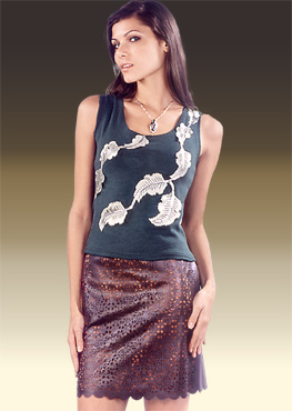 leather skirt L04202